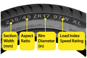 Tire Sidewall Diagram